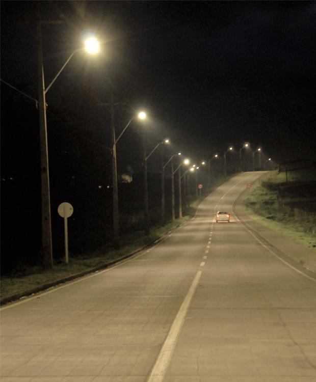 Iluminación led en ruta